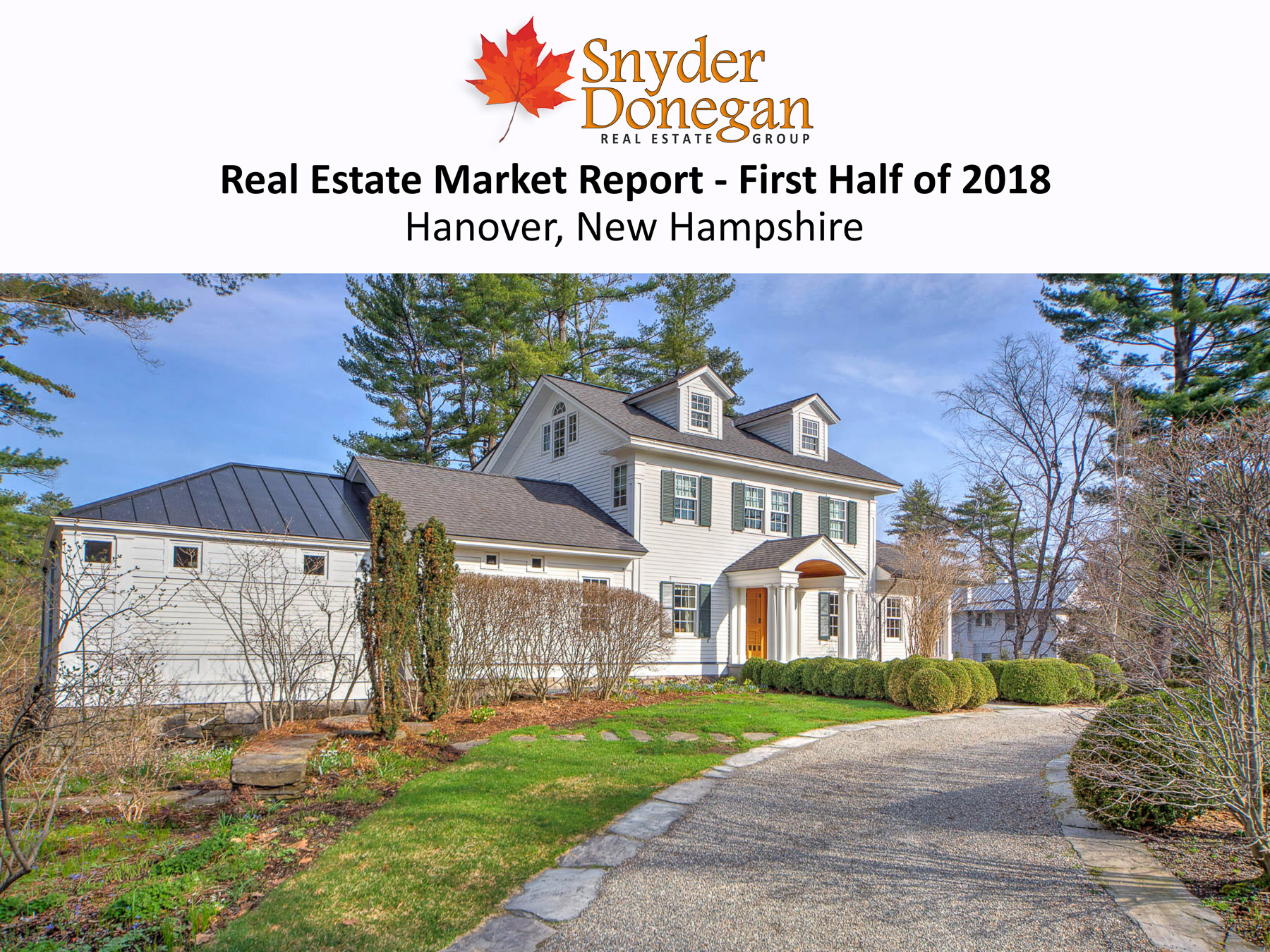Hanover NH Real Estate Market Report - First Half of 2018