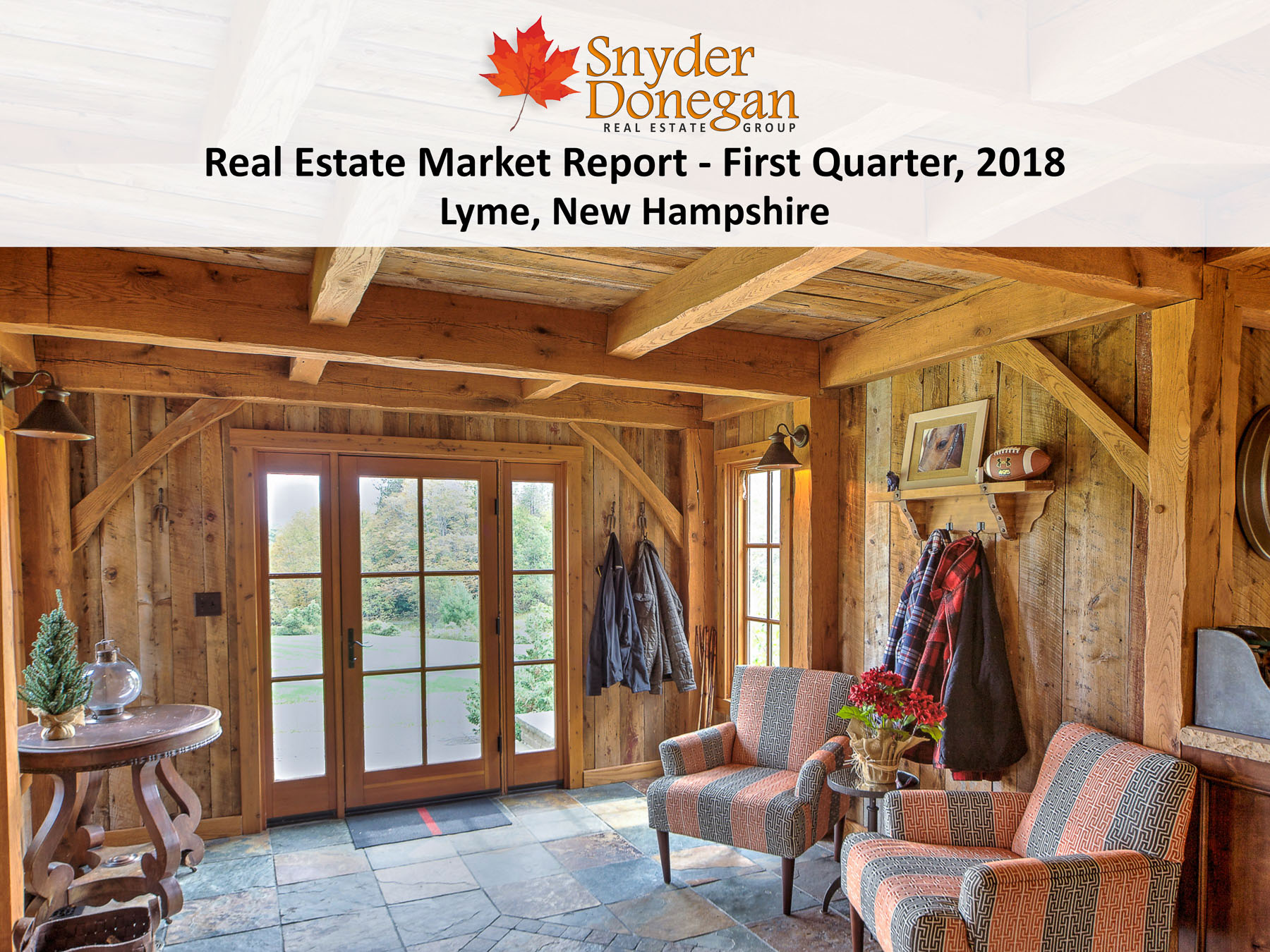 Lyme NH Real Estate Market - 1Q 2018 Cover Art