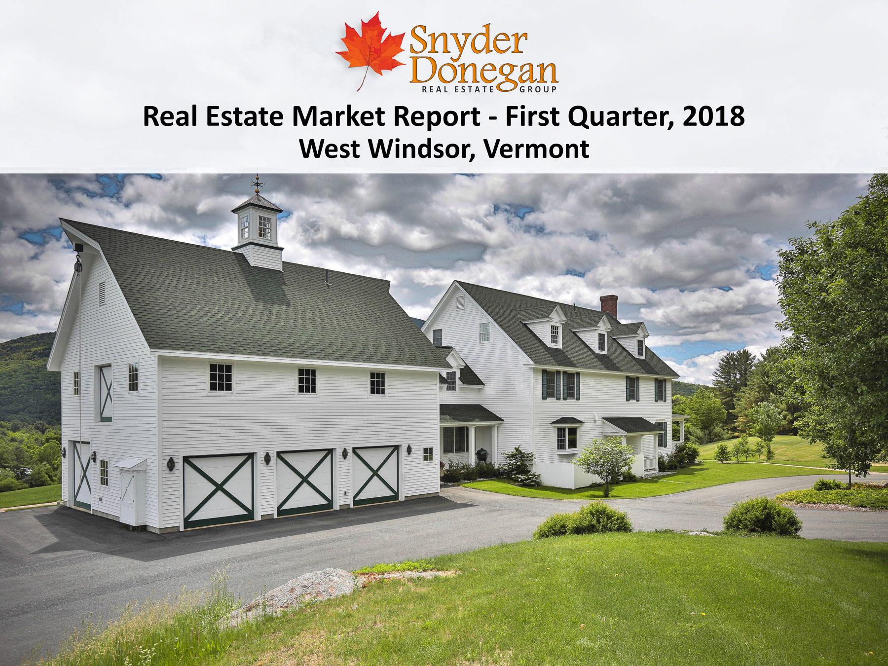 West Windsor VT Real Estate - 1Q 2018 Cover Art