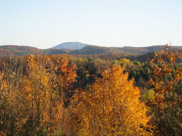 Trail View of Mt Ascutney