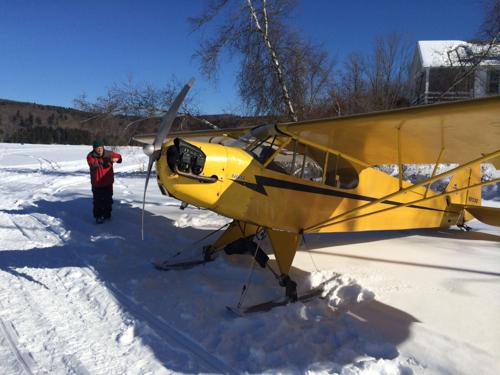 Piper Cub on Silver Lake - 500