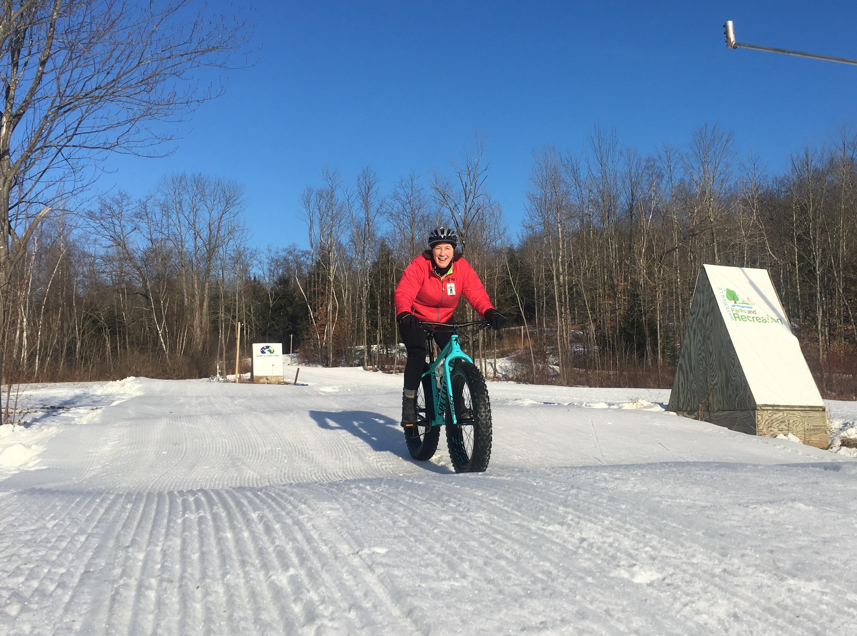 Biking on Quarry Road Trails in Maine