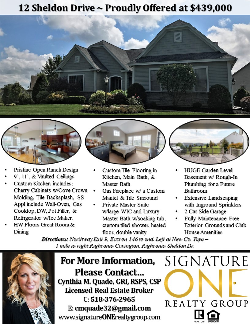 Flyer for Featured Listing 12 Sheldon Drive