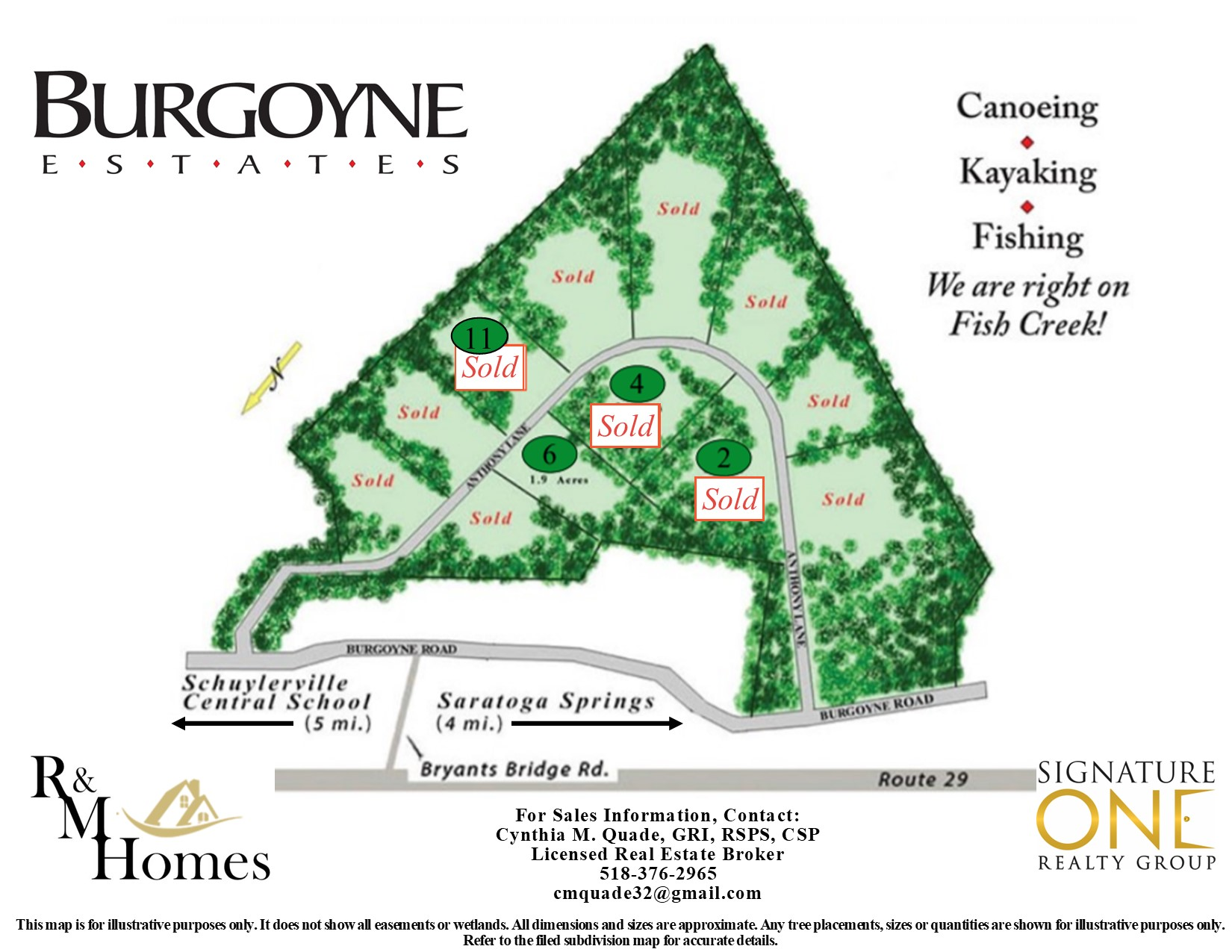 Burgoyne Estates Site Map