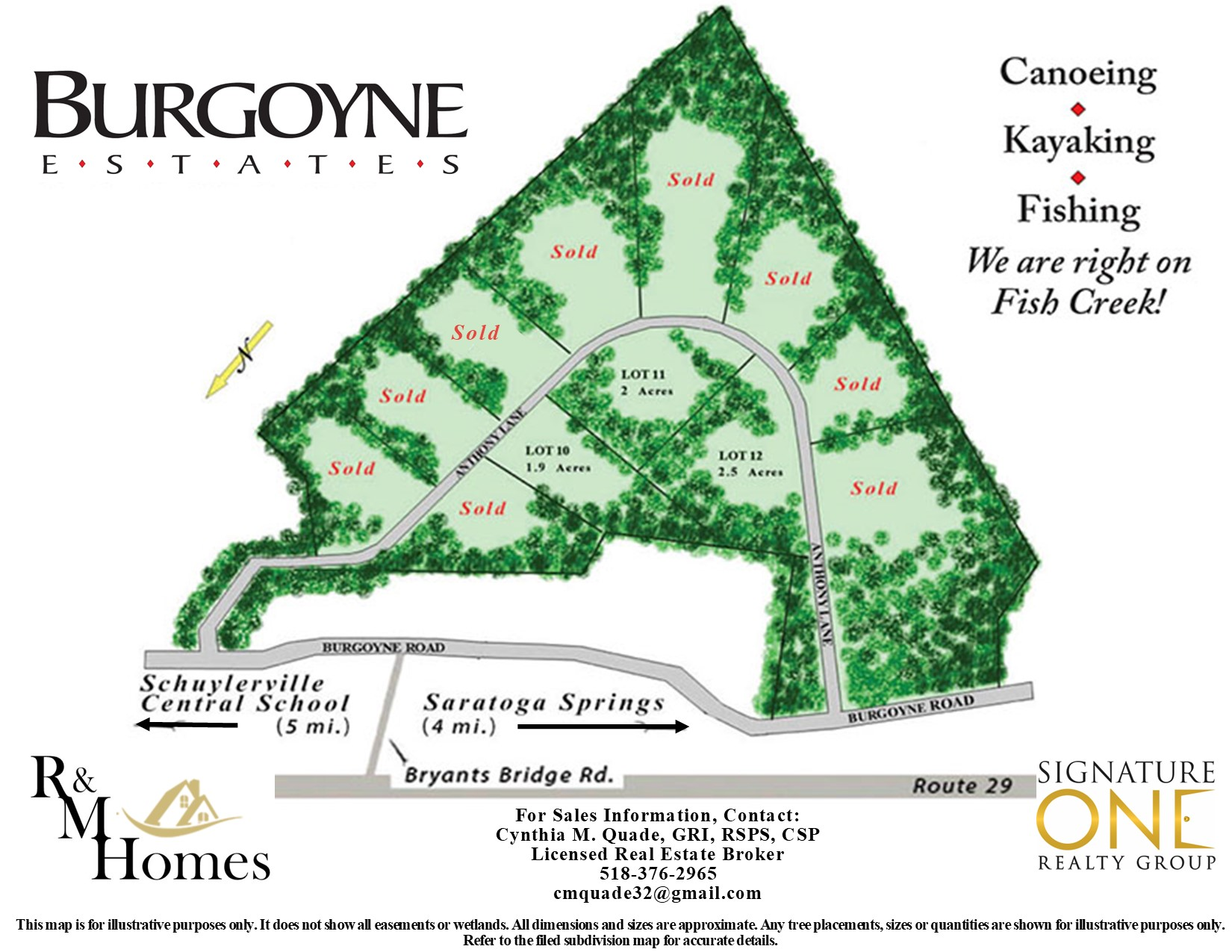 Burgoyne Estates Site Map