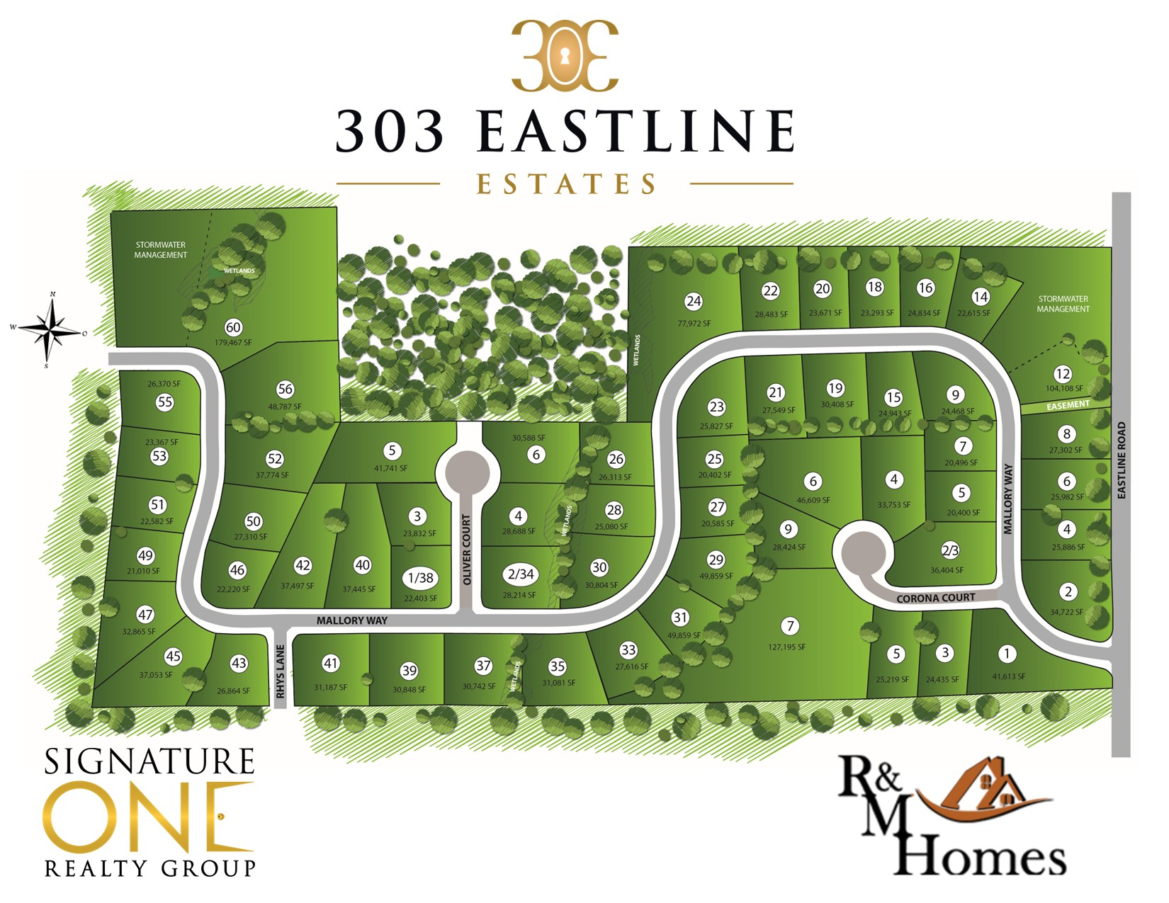 303 Eastline Estates Site Map