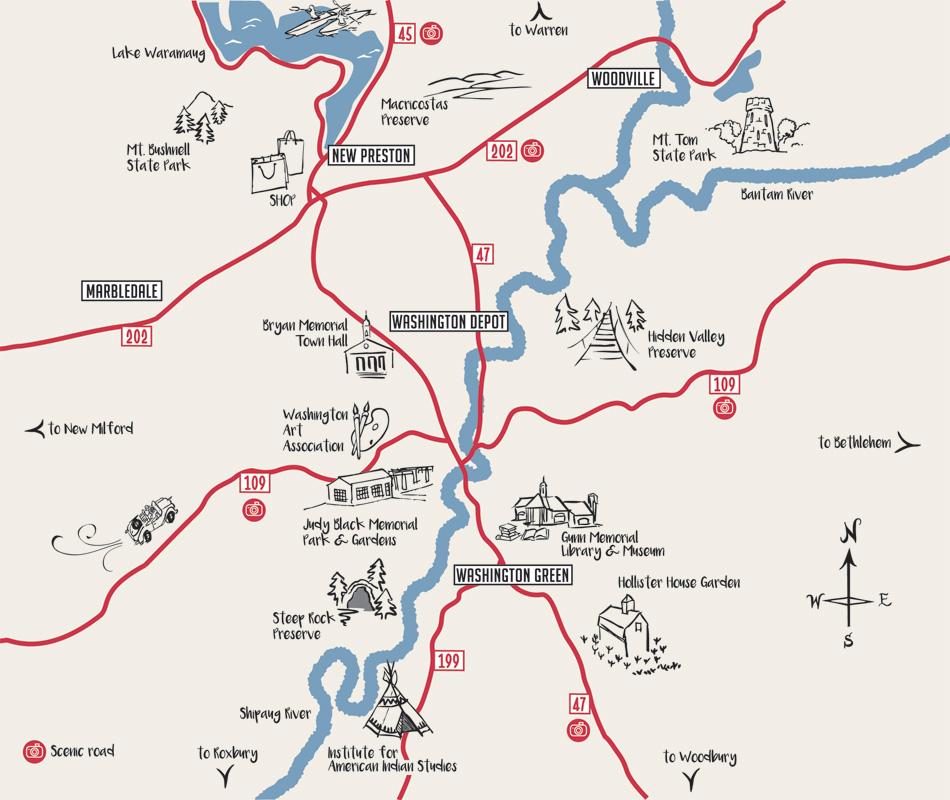 Map of Washington CT