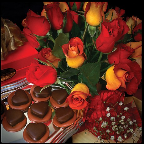 Hearts with Flowers from Bridgewater Chocolates