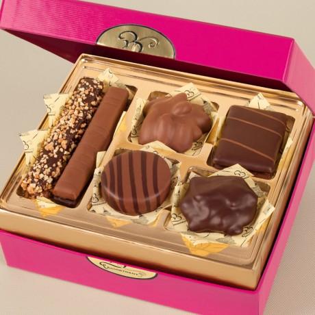 Pretty Pink Box with Chocolates
