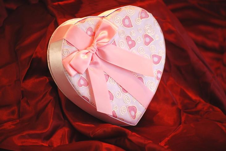 Valentine's Day Pink Heart Box