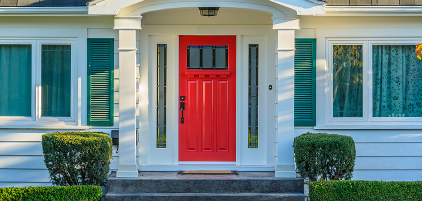 Welcome home 3 entry door options new england landmark for New home options