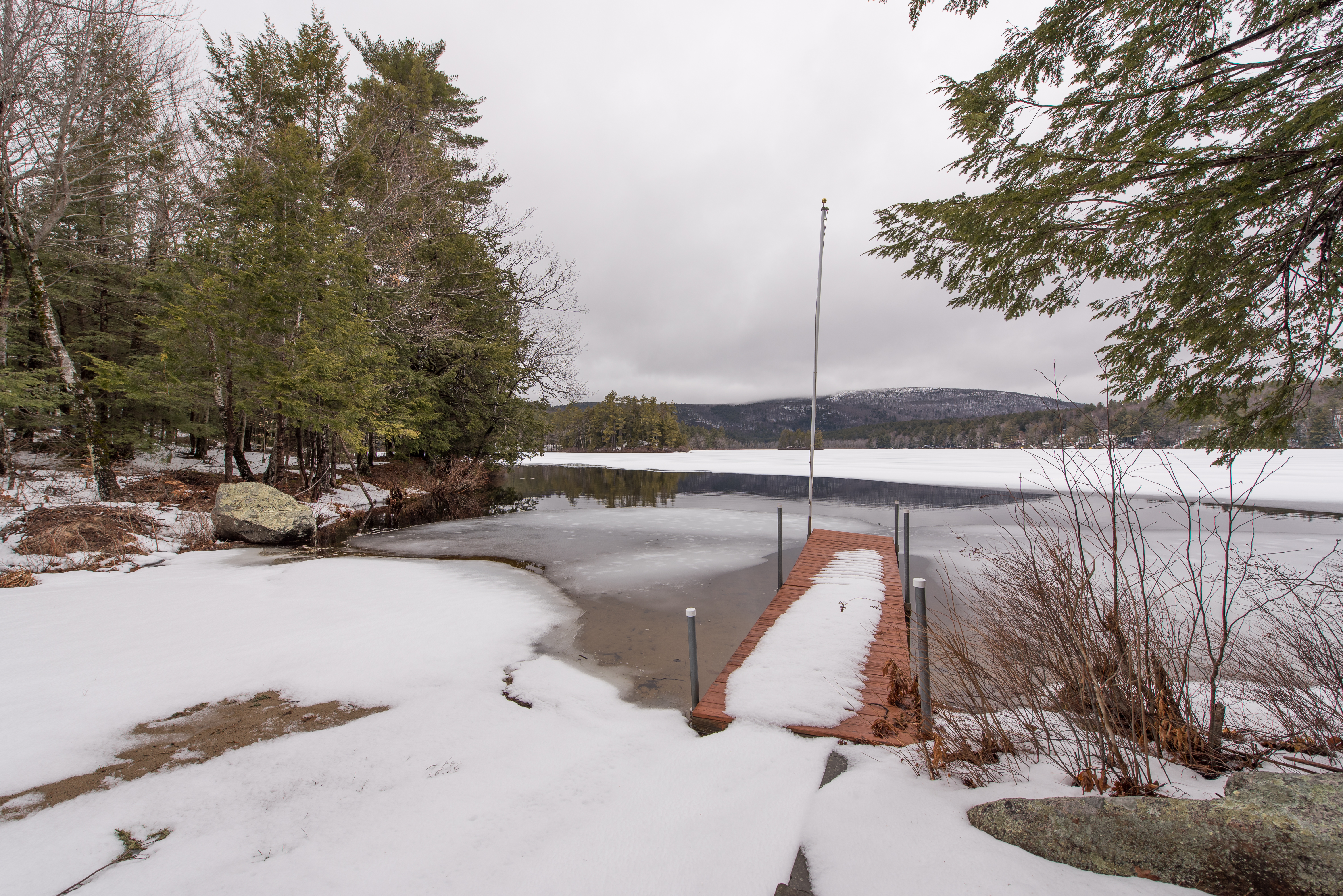 NH Lake home for sale and the winters end
