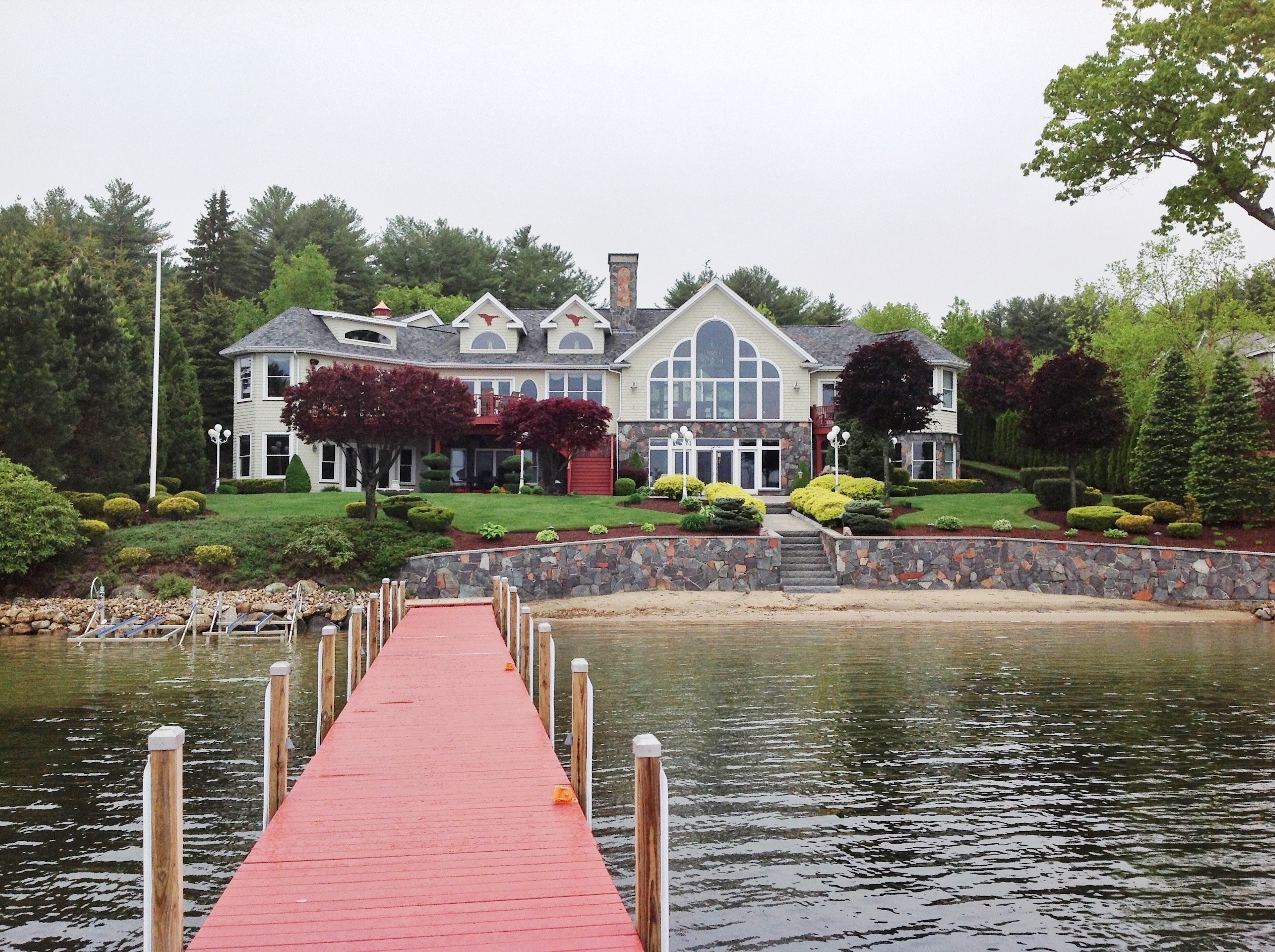 Lake Winnipesaukee waterfront home - waterfront luxury nh home