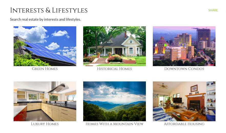 Asheville Homes Search by Interest Lifestyle