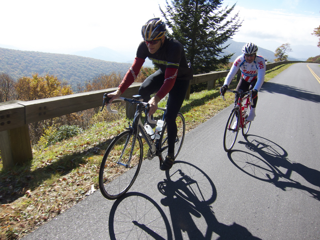 Cyclist Blue Ridge Parkway