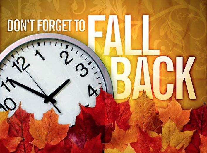 Fall Back Sunday November 1st