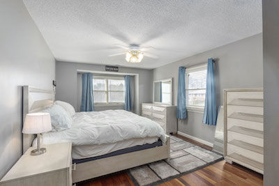 Staged Bedroom for Sale