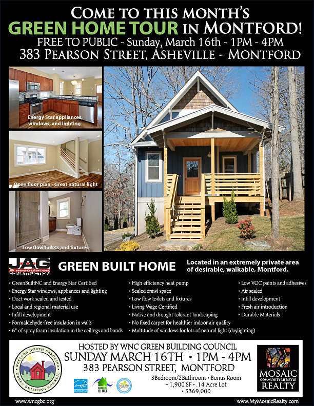 Montford NC Green Home Tour