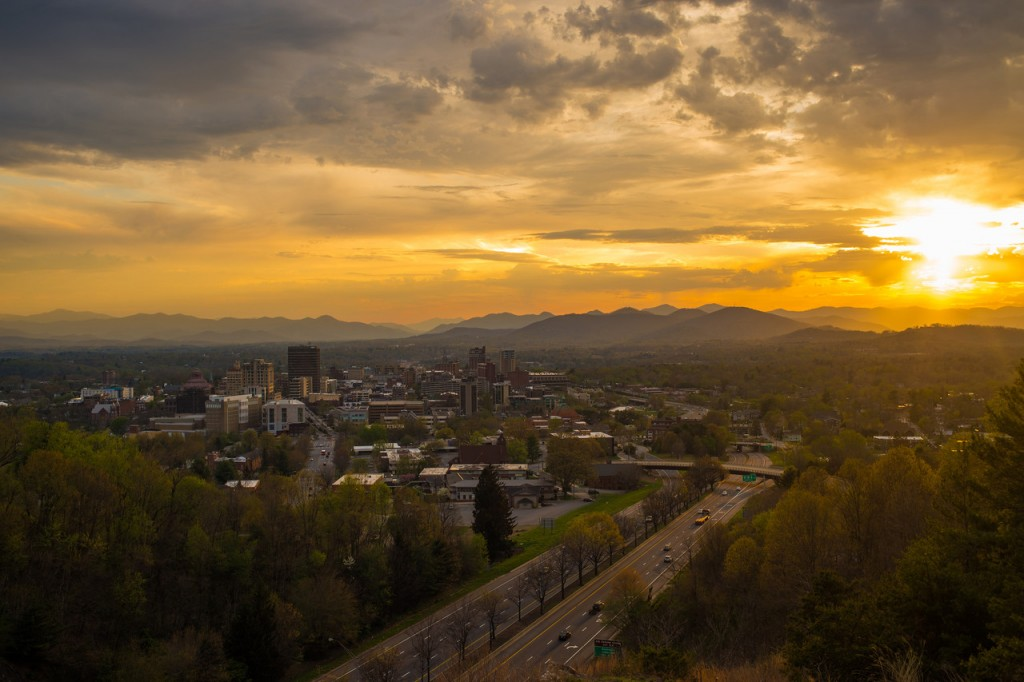 asheville city sunset