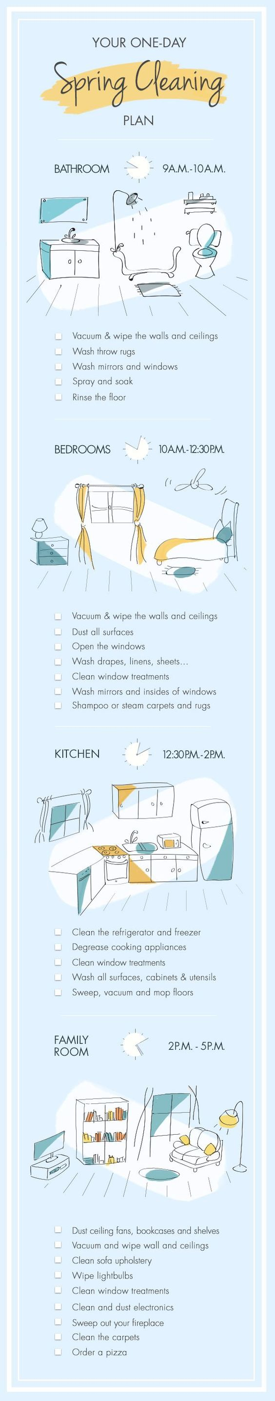 One Day Spring Cleaning Plan