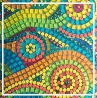 Custom mosaic backsplash by June Shea