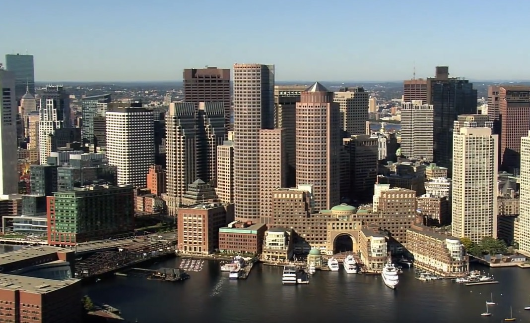 Boston condominiums in high-rises along the harbor