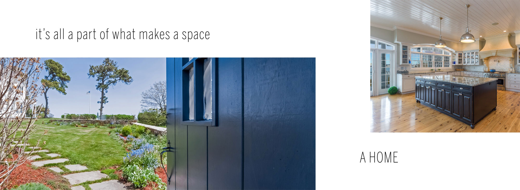 it's all part of what makes a space, a home