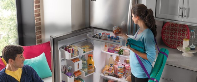 Frigidaire Gallery refrigerator with Custom-Flex Door.