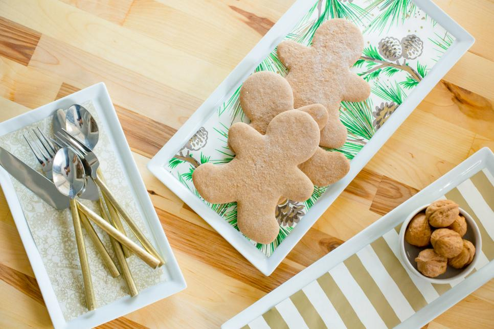 Holiday cookies and plates