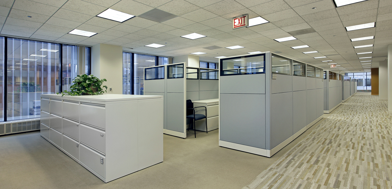 office space and cubicles