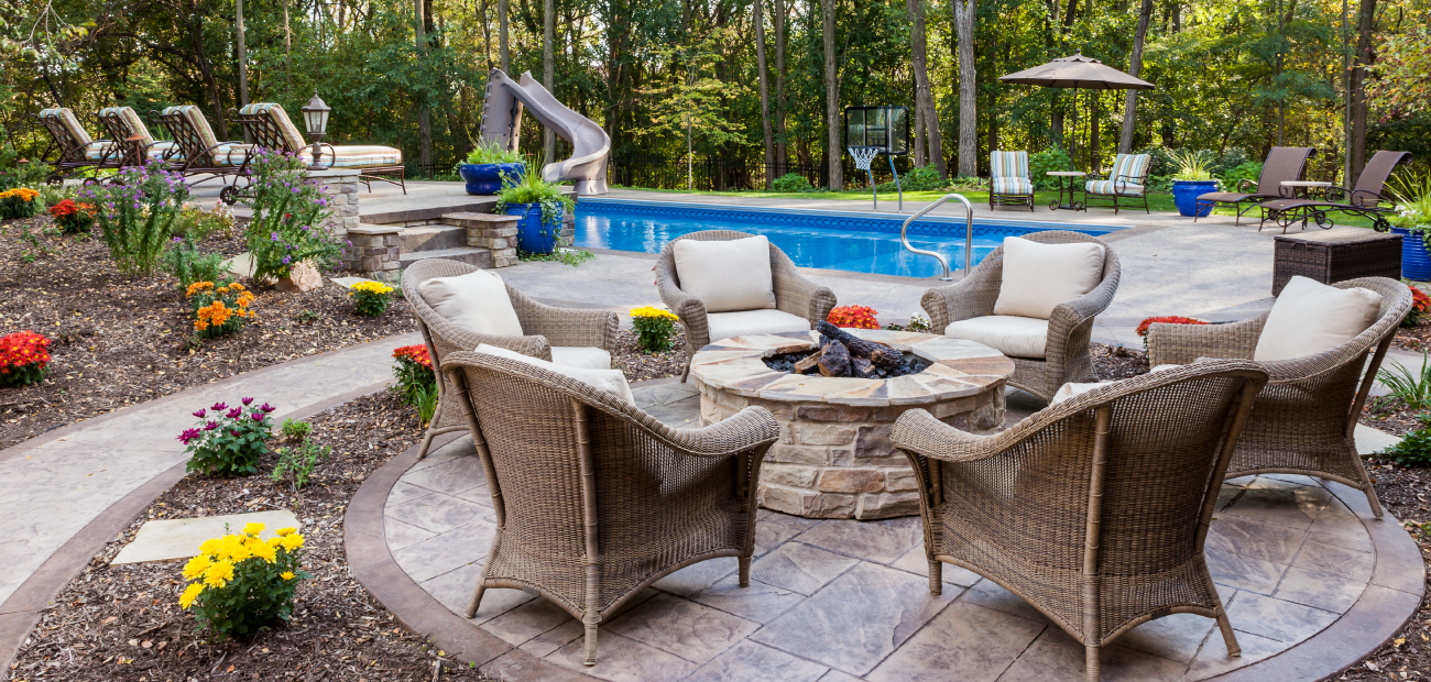 Outdoor pool and furniture