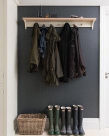 hallway barn coats and muck boot