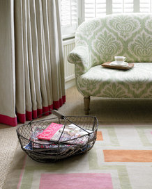 soft basket with magazines