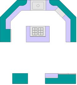 U-shape-with-island-kitchen-design