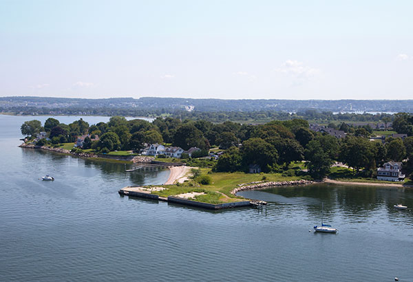 Portsmouth RI from Mount Hope