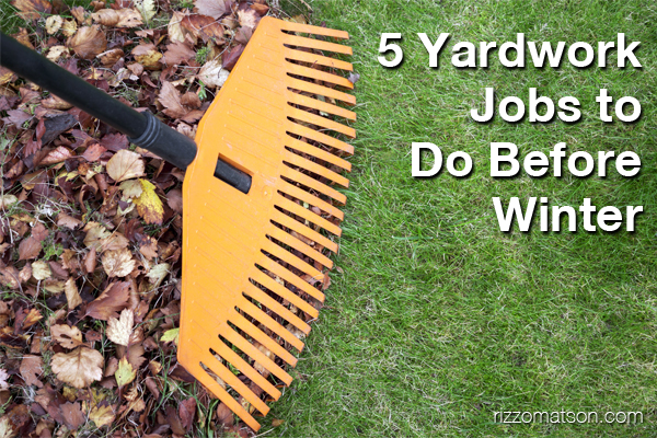 5 Yardwork Jobs to Do Before Winter