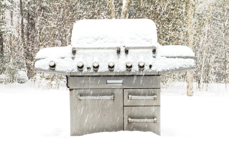 5 Tips For Preparing Your Patio Furniture For Winter - Grill in the Snow