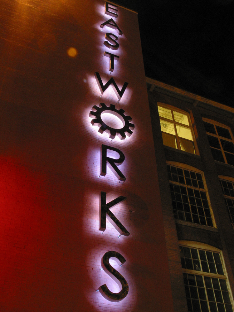 East Works Sign