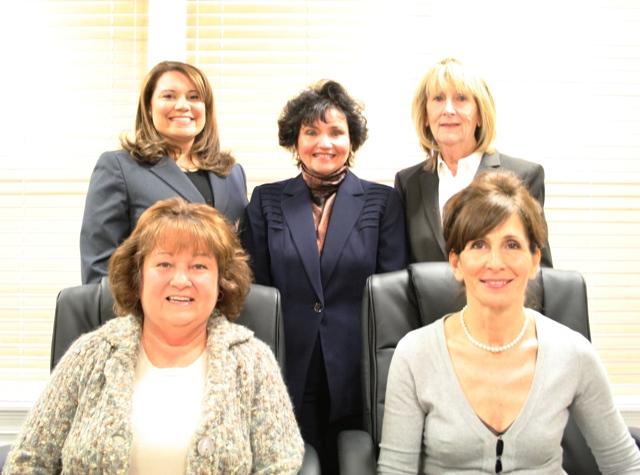 Seated: (L-R) Helen Bolino, Debra Roberts Standing (L-R) Alex DeRosa, Maria Miara, Elena Drislane