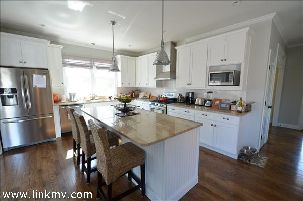 Open living & kitchen area in Oak Bluffs MA home
