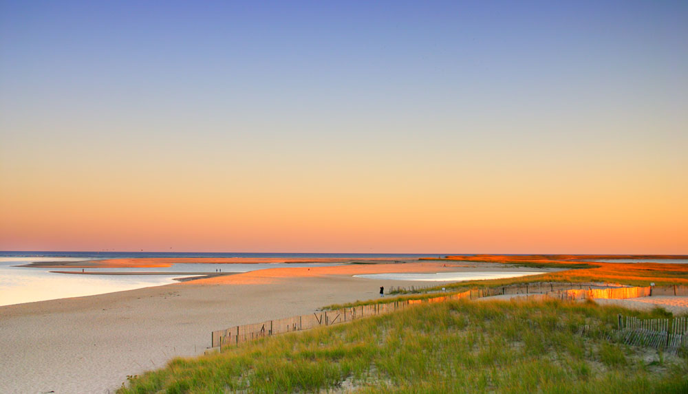 Sunset on Martha's Vineyard beach