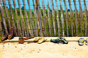Sandals on Beach in Martha's Vineyard