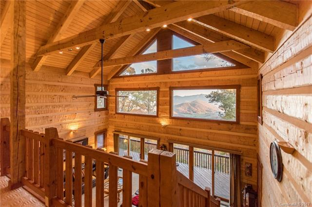 Views for miles at this luxury log cabin