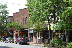 City life in Asheville means eclectic arts and dining options.