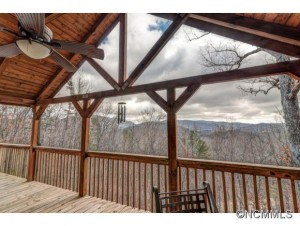 This newly-listed log cabin is an Asheville paradise.