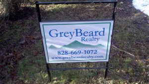 Western NC real estate sign