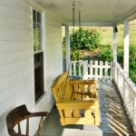 Asheville Farmhouse porch swing