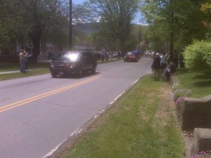 Obama Motorcade Heads to Asheville NC