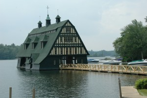 Swallow Boathouse at Windward Harbor Lake Winnipesaukee