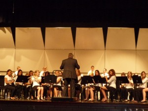 Inter-Lakes High School Band in Performance